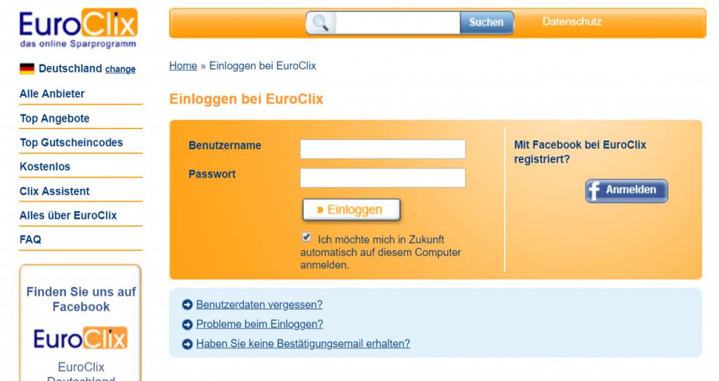 Keine Neuregistrierungen auf Euroclix mehr möglich